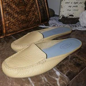 Talbot genuine leather yellow slip on shoes.